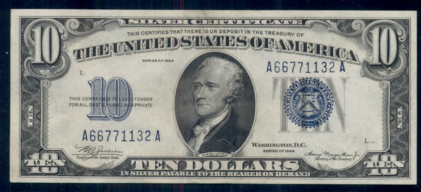 1953 $5 Five Dollar Silver Certificate Grading Crispy XF to AU Very Nice Notes